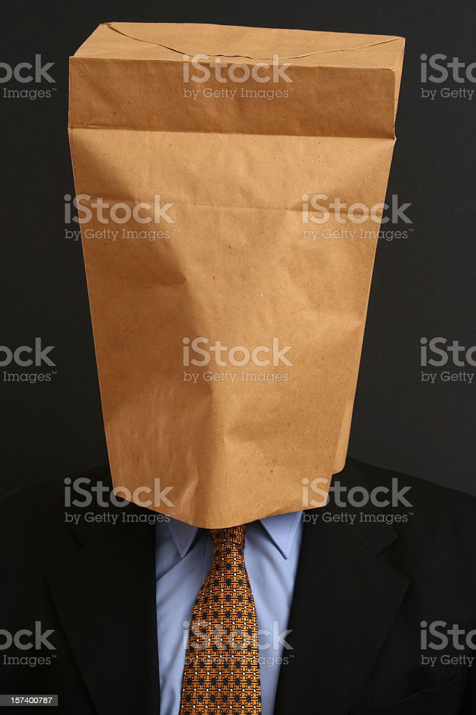 Anonymous businessman stock photo