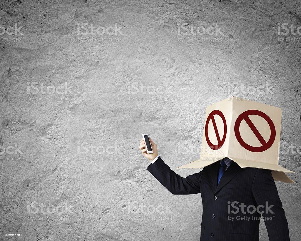 Anonymous call stock photo