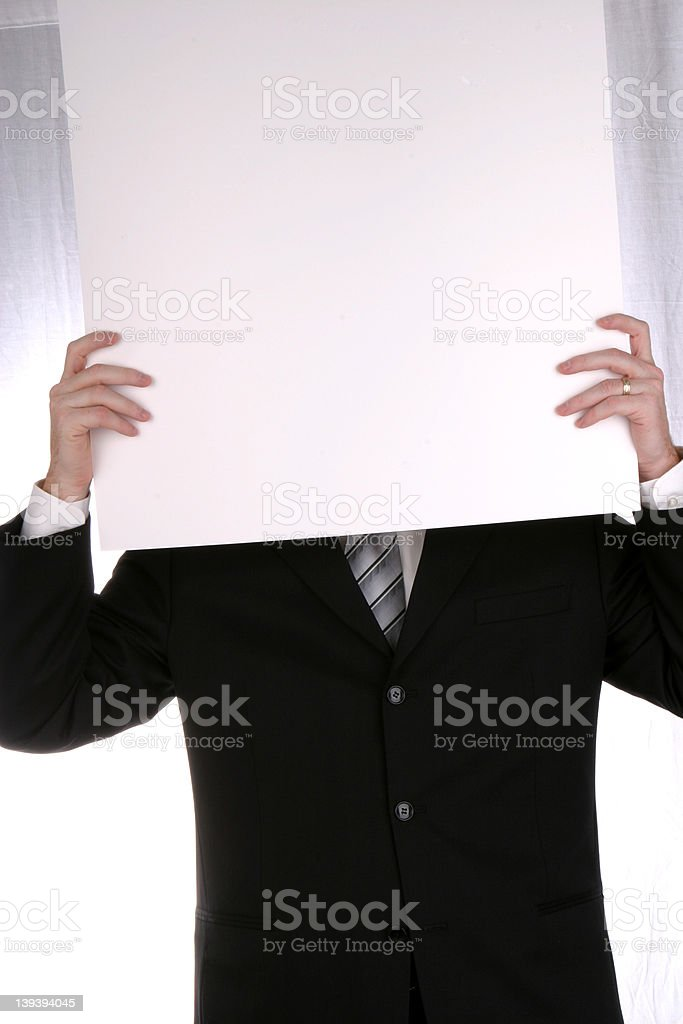 Anonymous Chart royalty-free stock photo