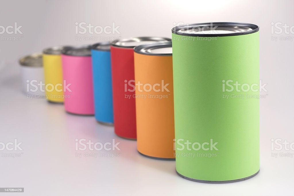Anonymous Colored Cans royalty-free stock photo