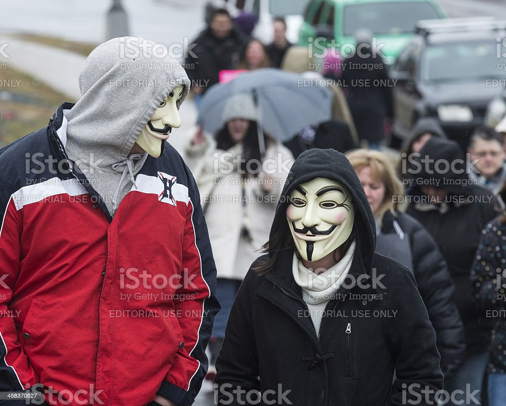 Anonymous Couple royalty-free stock photo