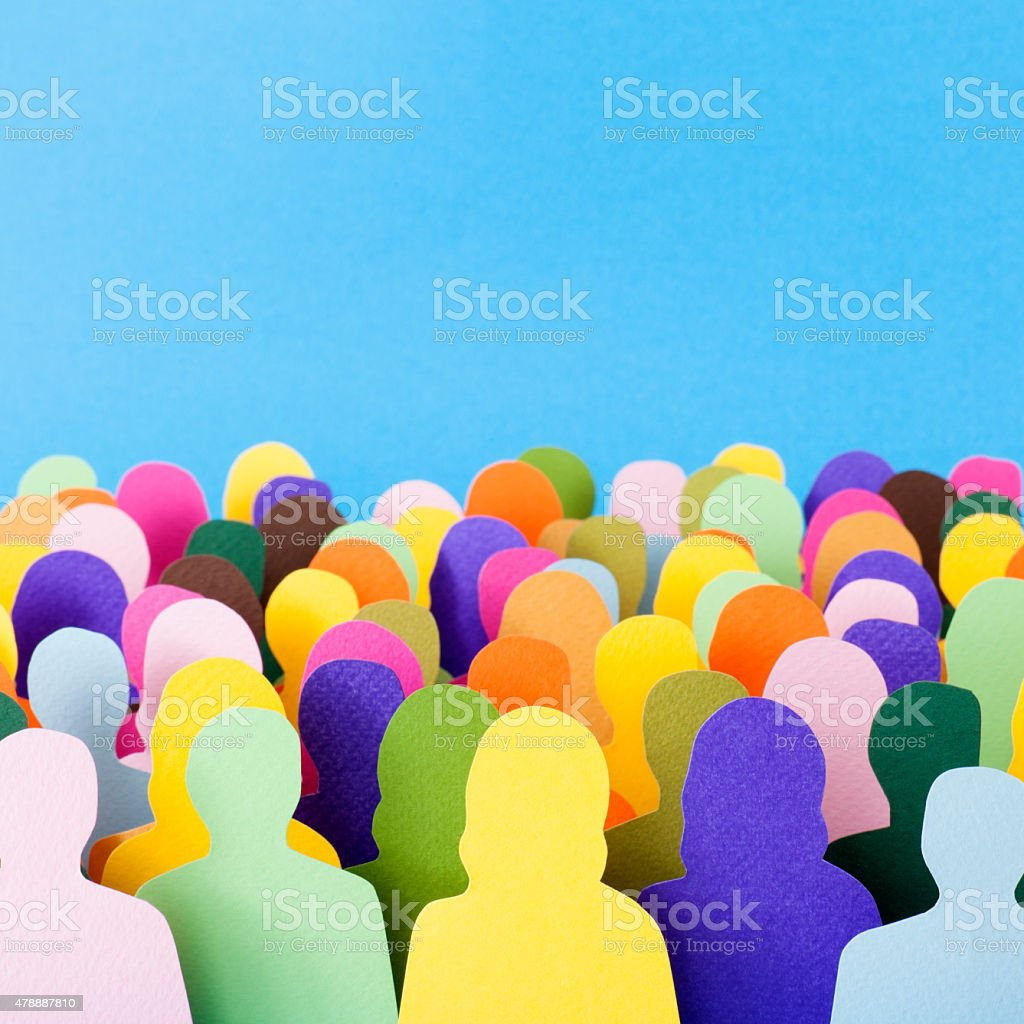 Anonymous crowd stock photo