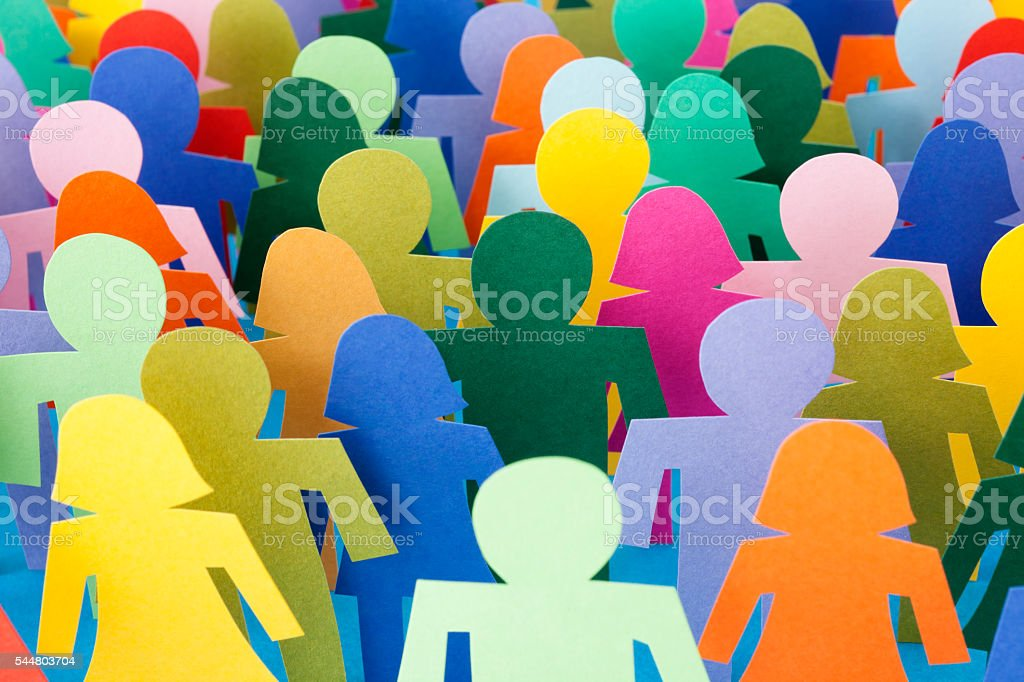Anonymous crowd stock photo