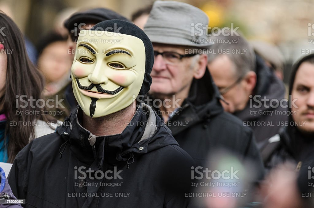 Anonymous Face in the Crowd stock photo