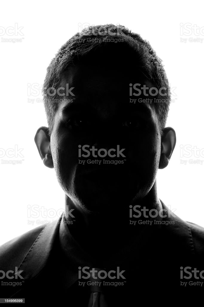 Anonymous - Front Silhouette stock photo