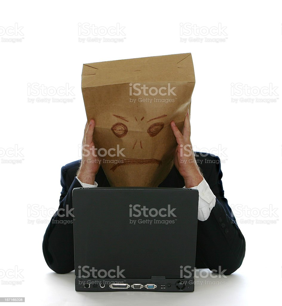 Anonymous Frustration royalty-free stock photo