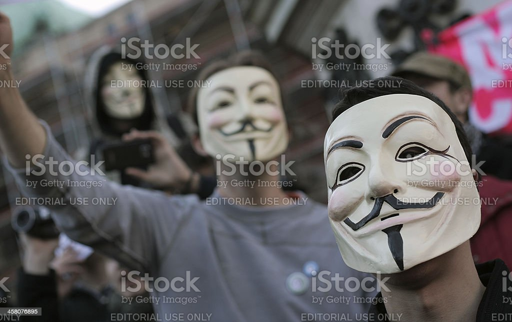 Anonymous group stock photo