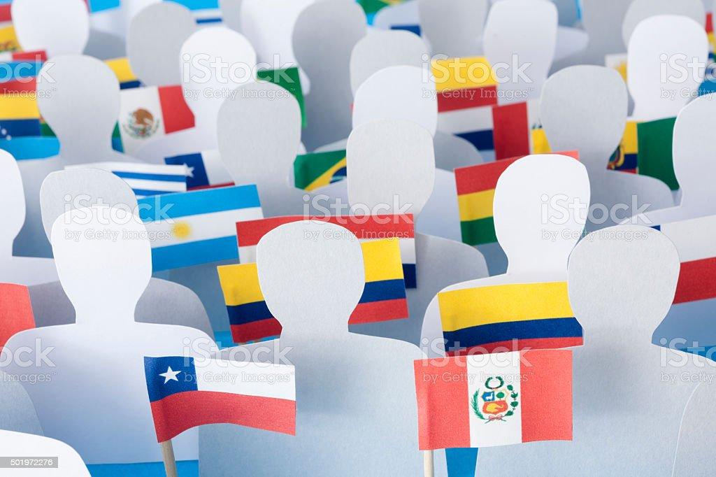 Anonymous latin american men stock photo