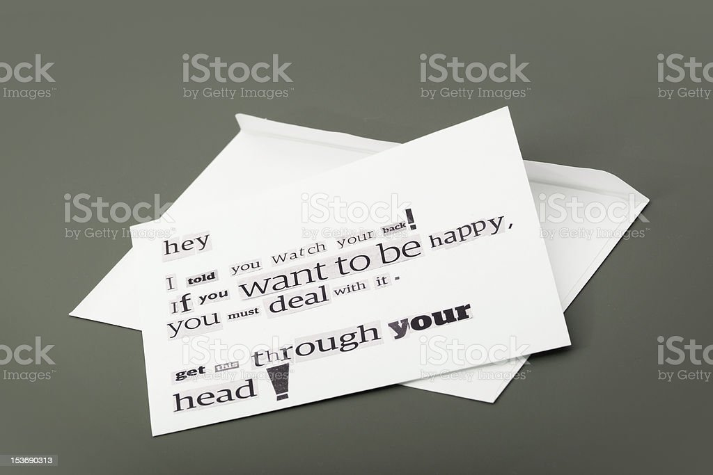 Anonymous letter royalty-free stock photo