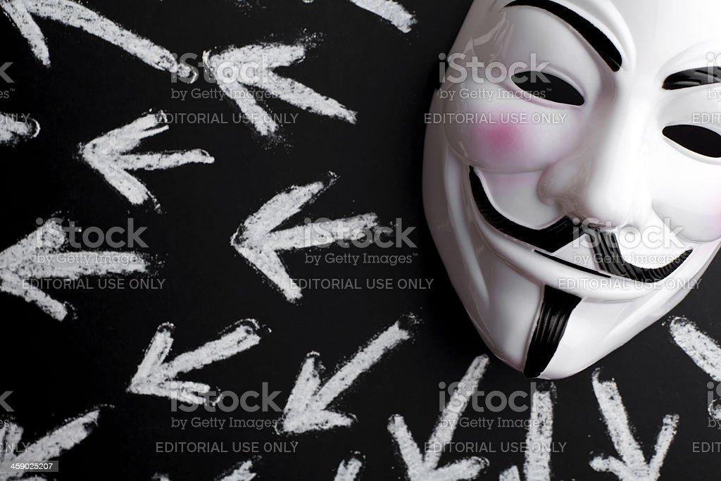 anonymous mask stock photo
