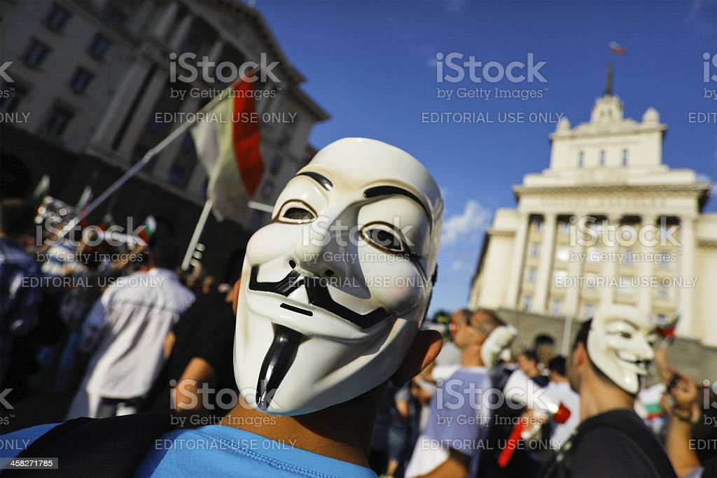 anonymous mask protest royalty-free stock photo