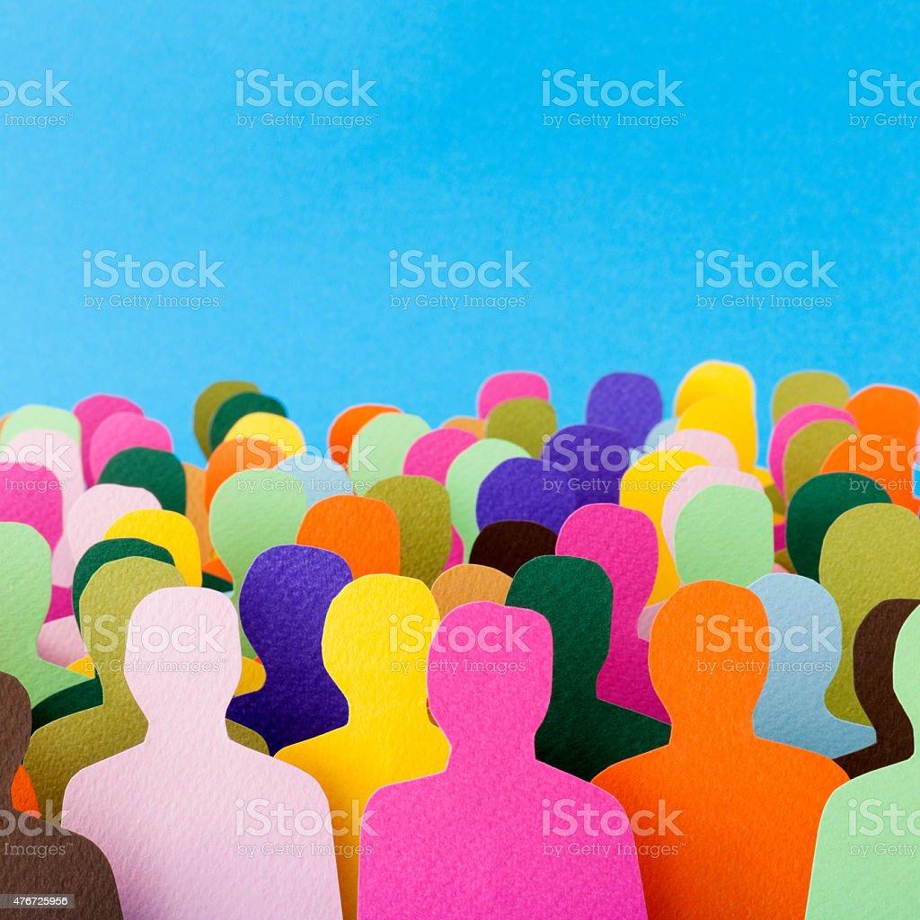 Anonymous men crowd stock photo