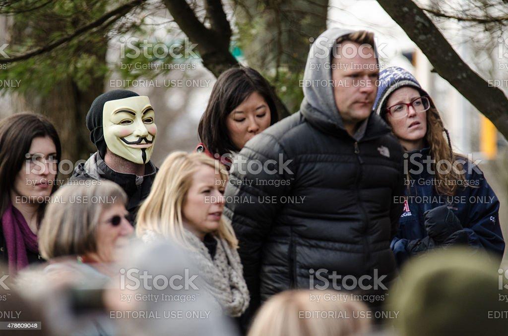 Anonymous Protestor stock photo