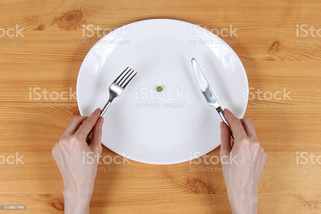 Anorexia plate stock photo