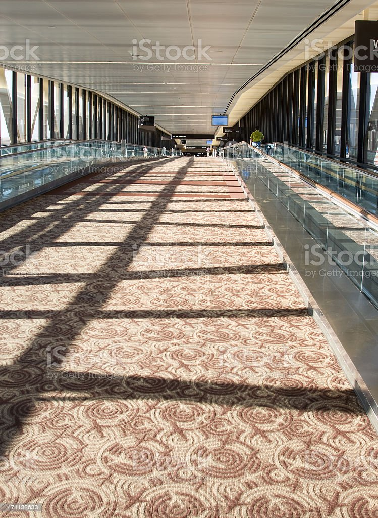 Another Airport Terminal Hallway royalty-free stock photo