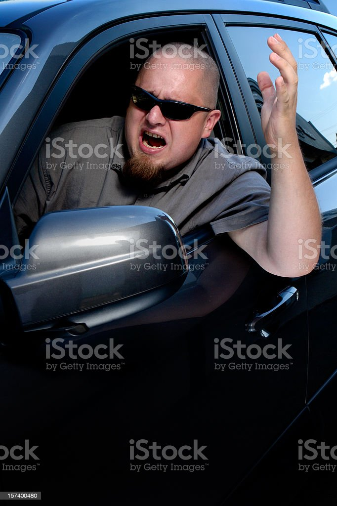 Another Angry Driver royalty-free stock photo