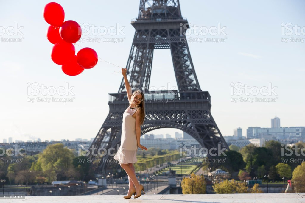 Another beautiful day in Paris stock photo