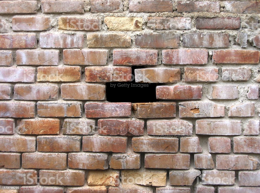 Another brick not in the wall royalty-free stock photo