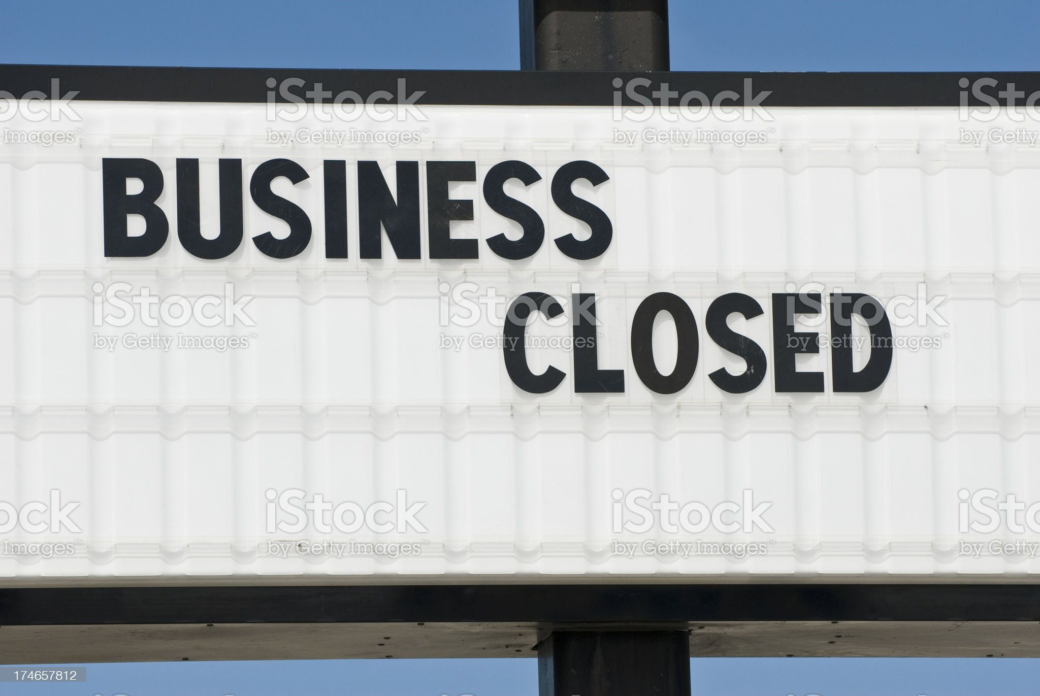 Another Business Failure royalty-free stock photo