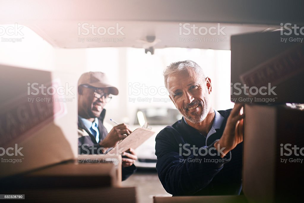 Another day, another delivery stock photo