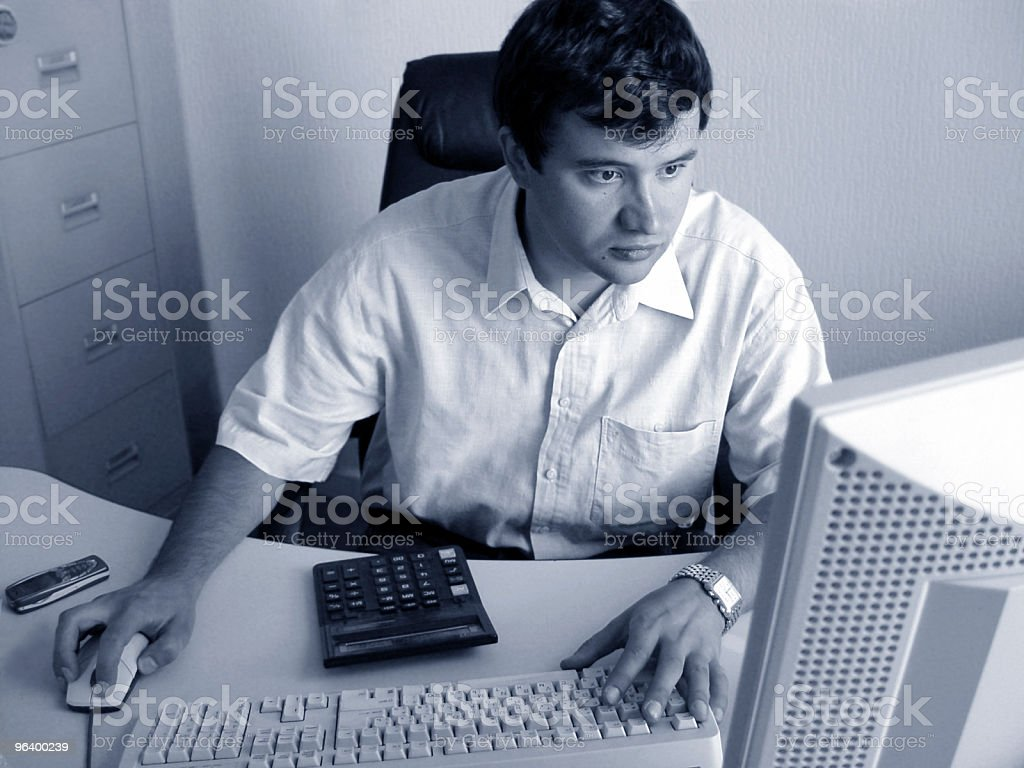 Another day at the office royalty-free stock photo