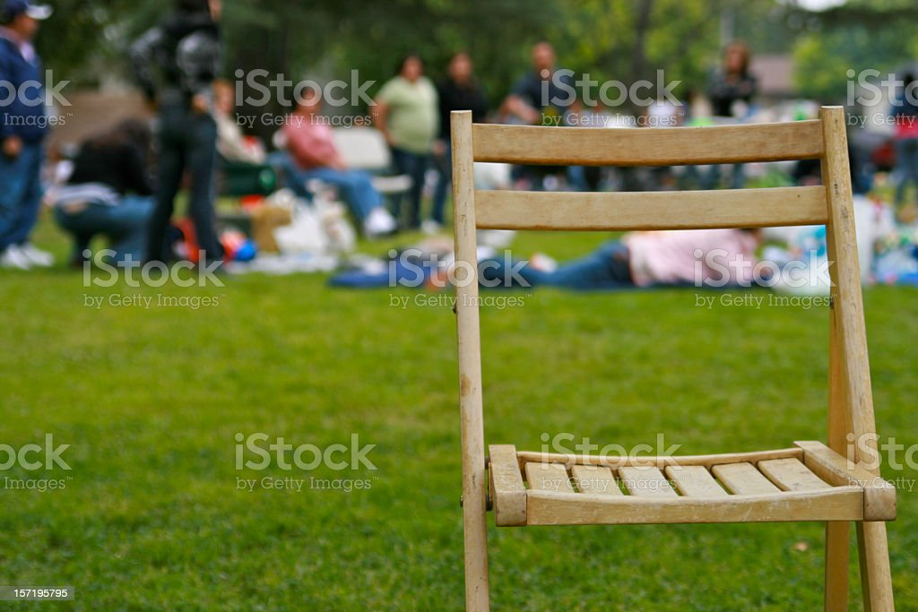 Another Family Picnic stock photo