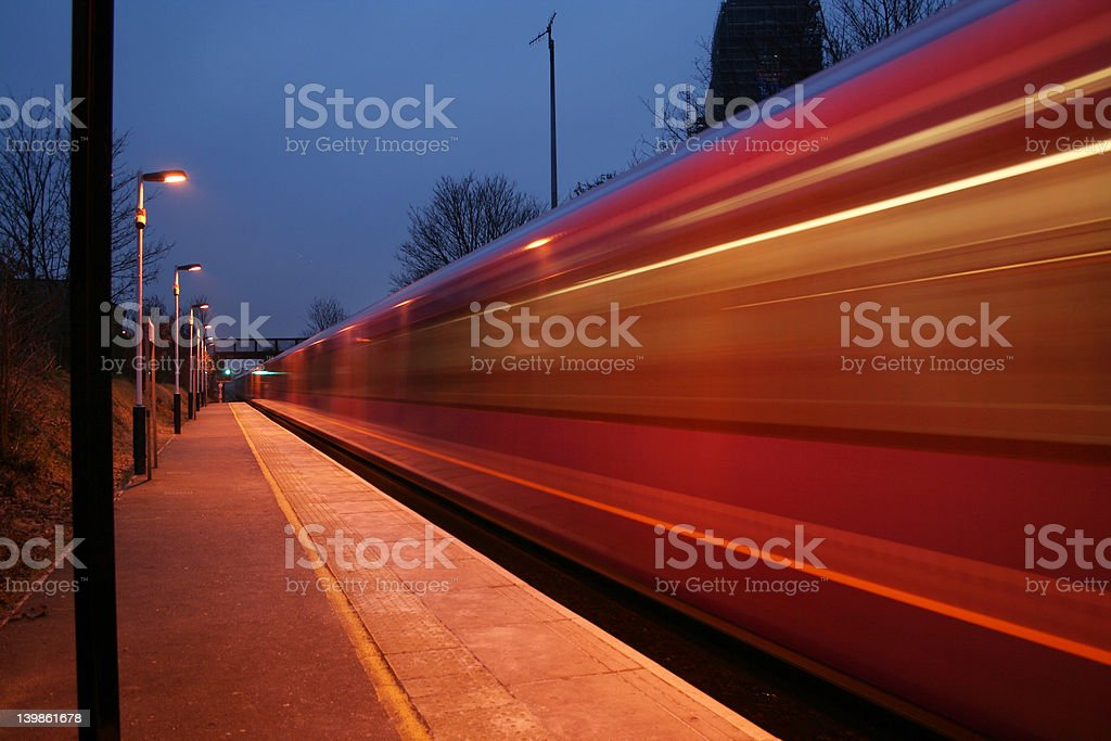 another fast train royalty-free stock photo