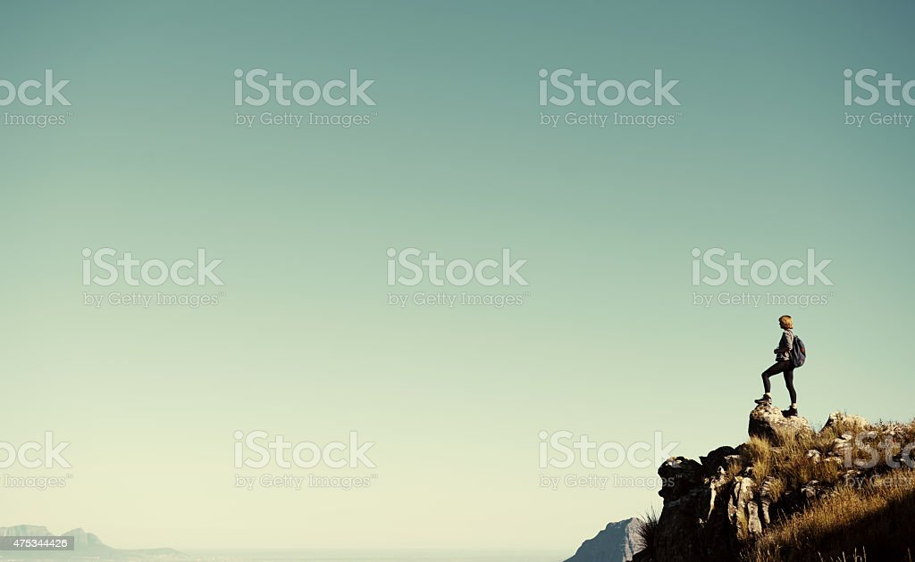 Another goal conquered stock photo