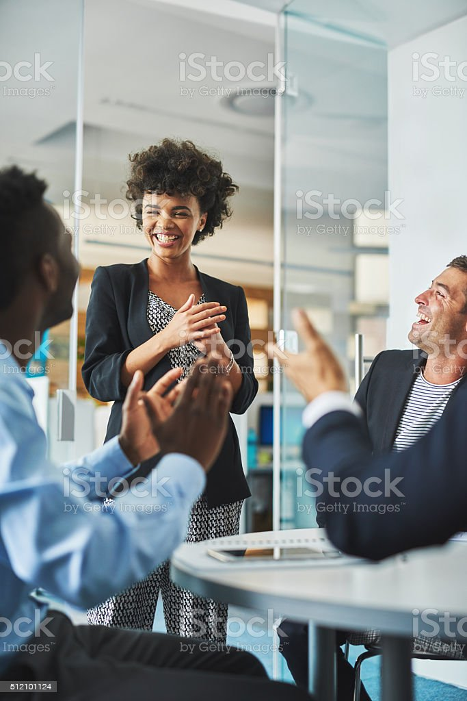 Another great day in the office stock photo