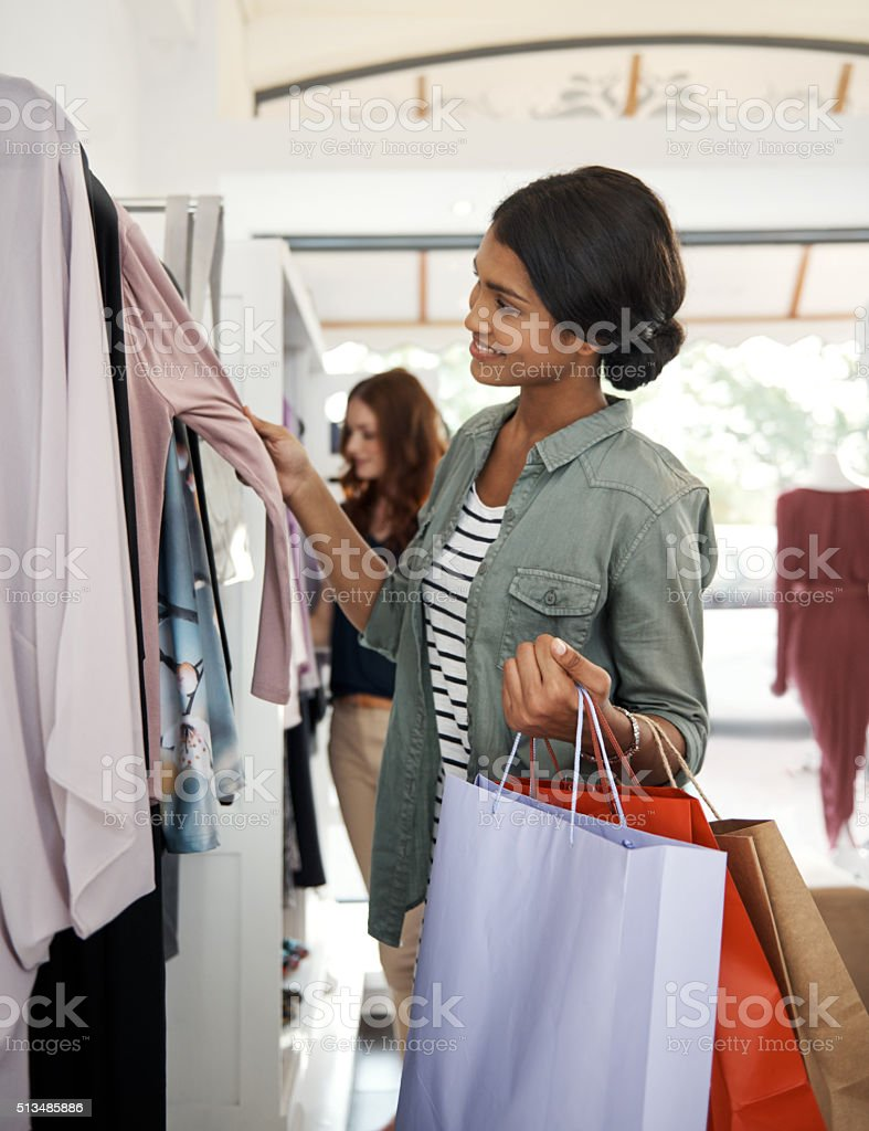 Another great fashionable find stock photo