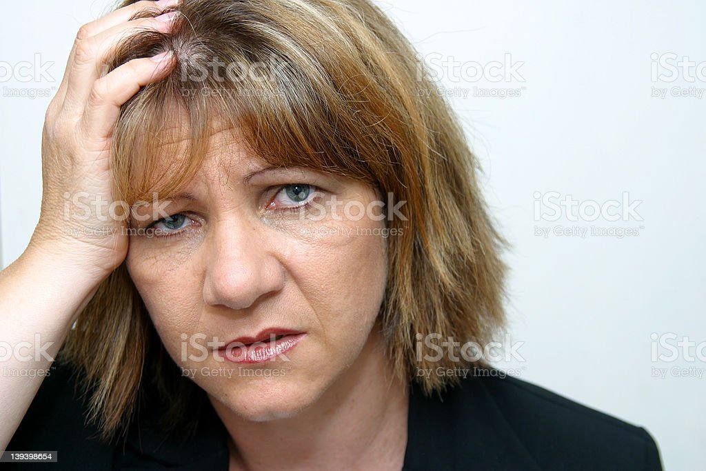 Another Headache Coming On! royalty-free stock photo