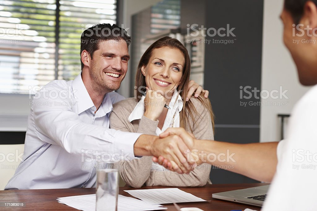 Another important step in their life together stock photo