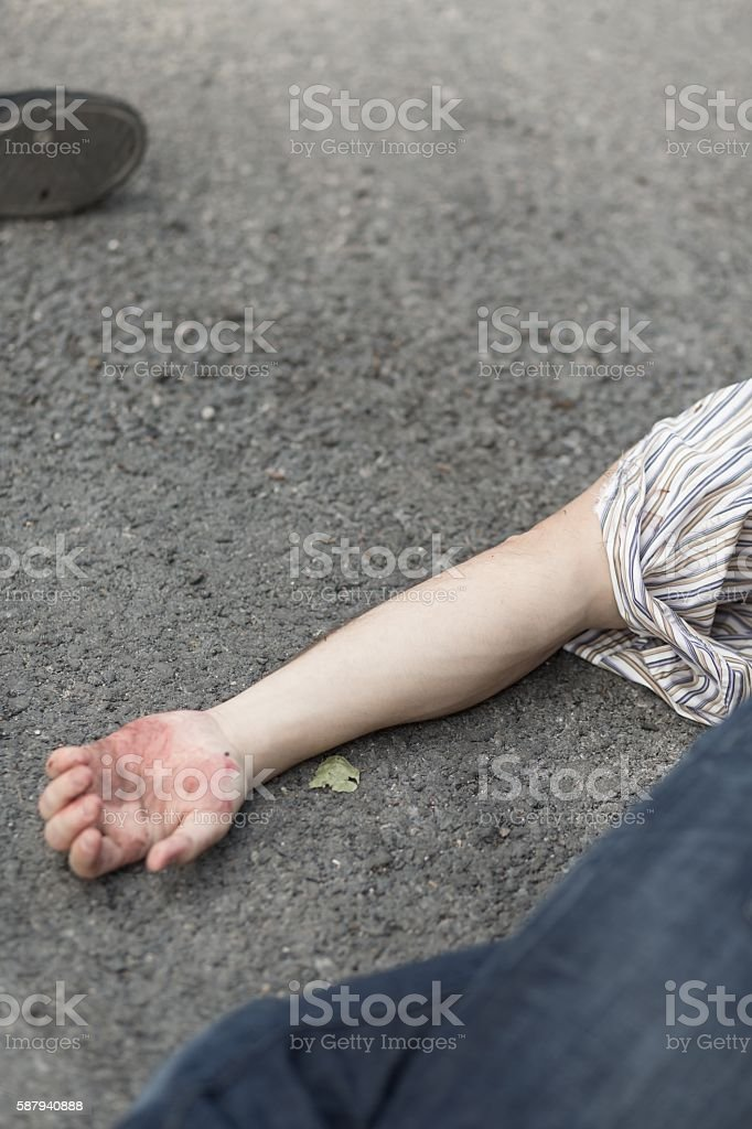 Another innocent terrorism victim stock photo