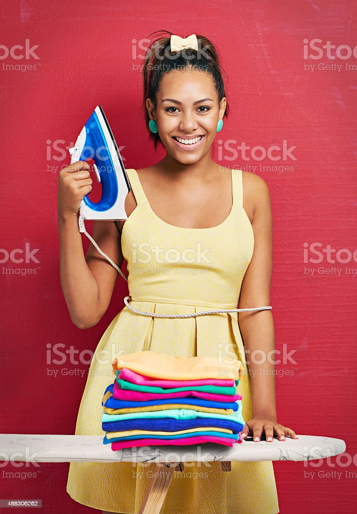 Another job well done! stock photo