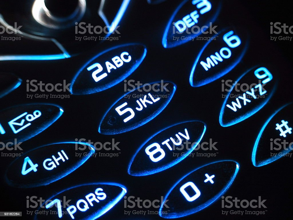 another phone in the dark royalty-free stock photo