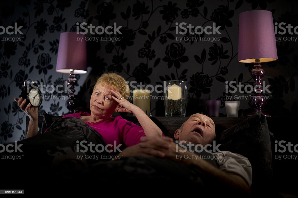 Another sleepless night! royalty-free stock photo