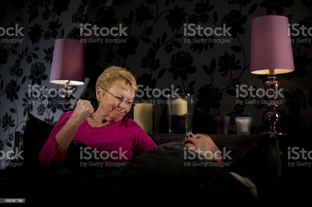 Another Sleepless Night! stock photo