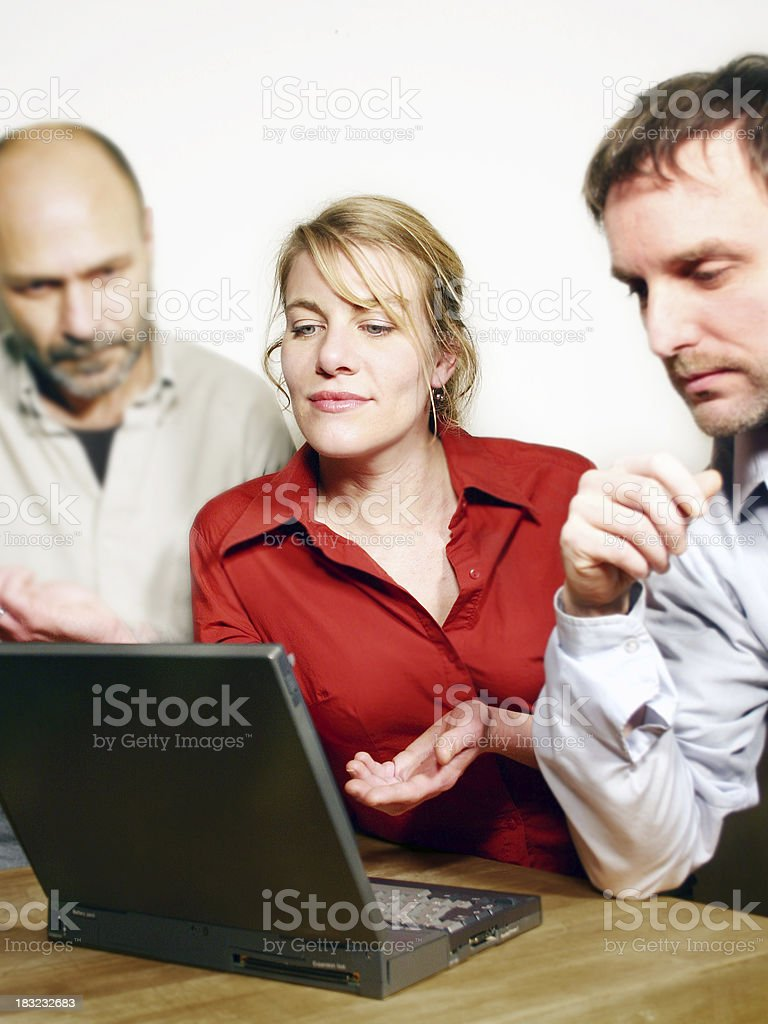 Another three co-workers. royalty-free stock photo