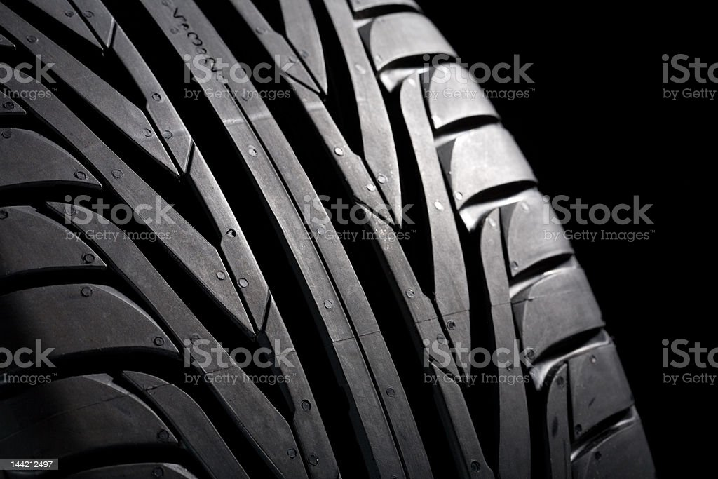 Another Tire on black royalty-free stock photo