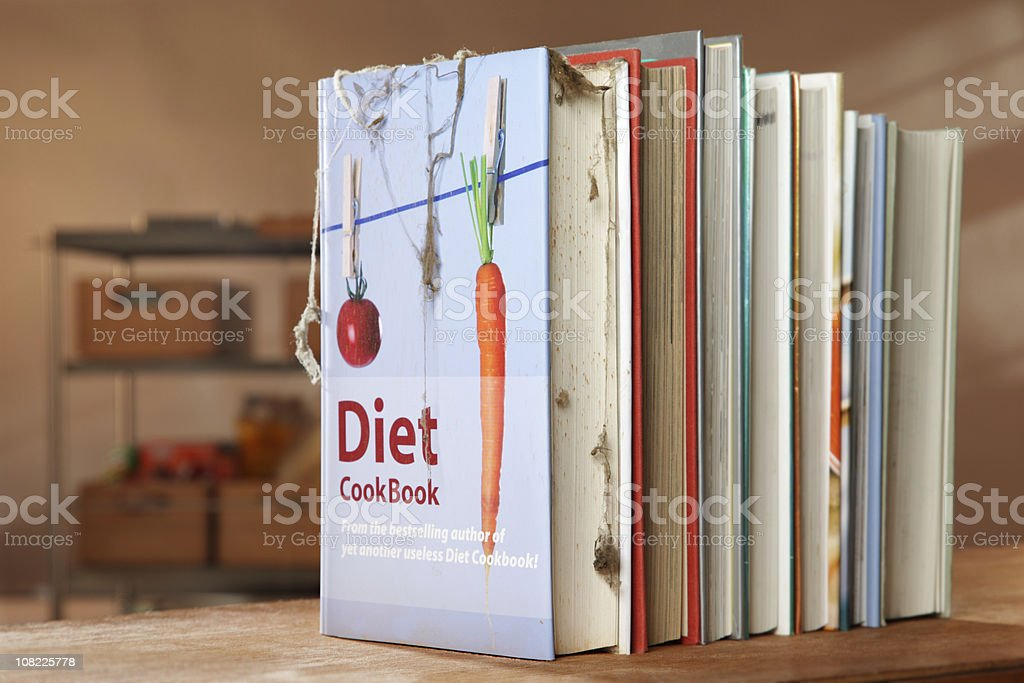 Another useless Diet Cookbook royalty-free stock photo