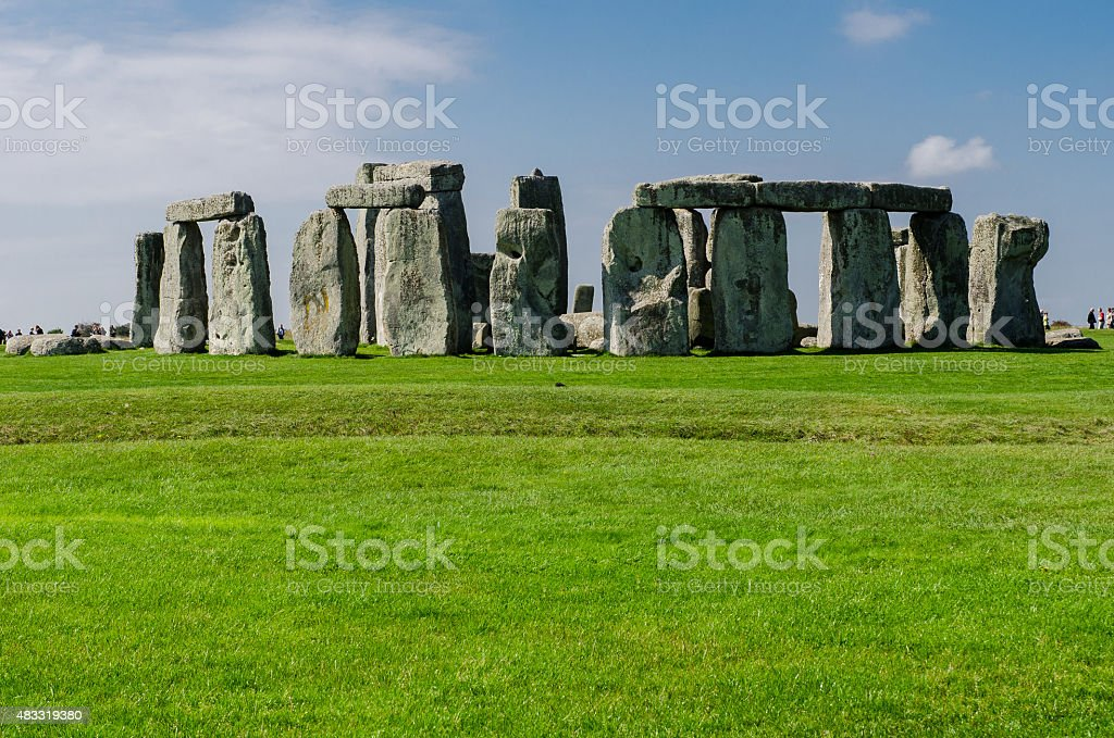 Another view of Stonehenge site stock photo