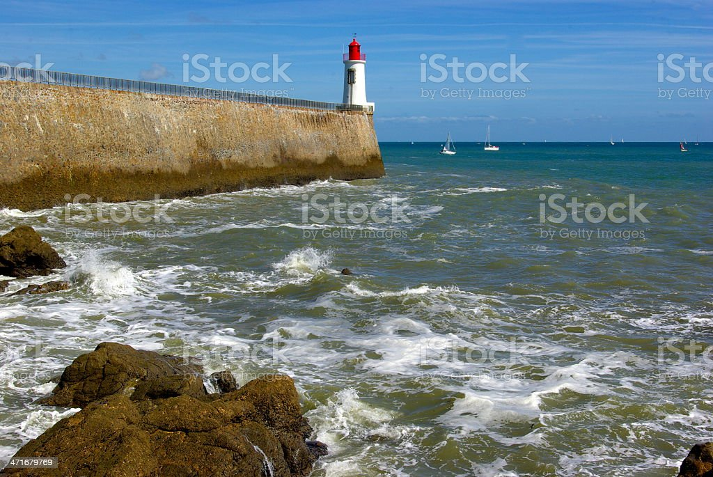 Another view of the lighthouse stock photo