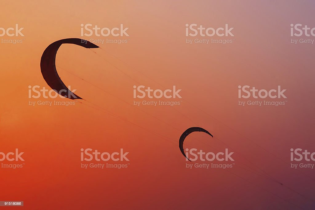 Another world with two crescent moons royalty-free stock photo
