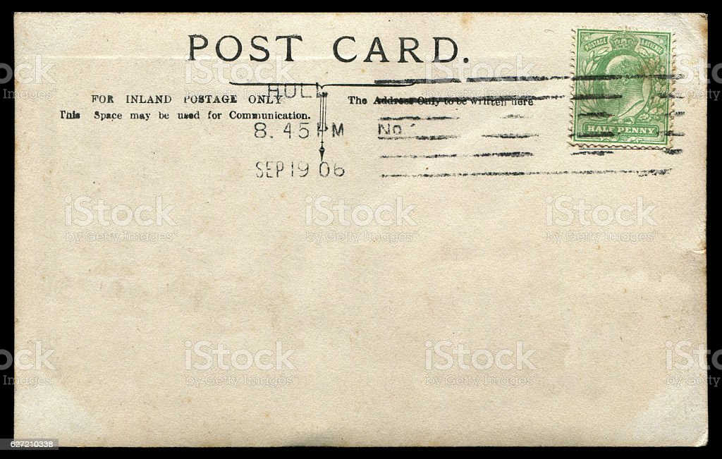 anqitue postcard from Hull, Britain in early 1900s stock photo