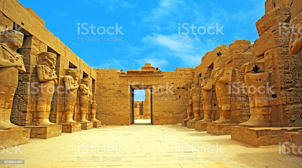 Anscient Temple of Karnak in Luxor - Ruined Thebes Egypt stock photo