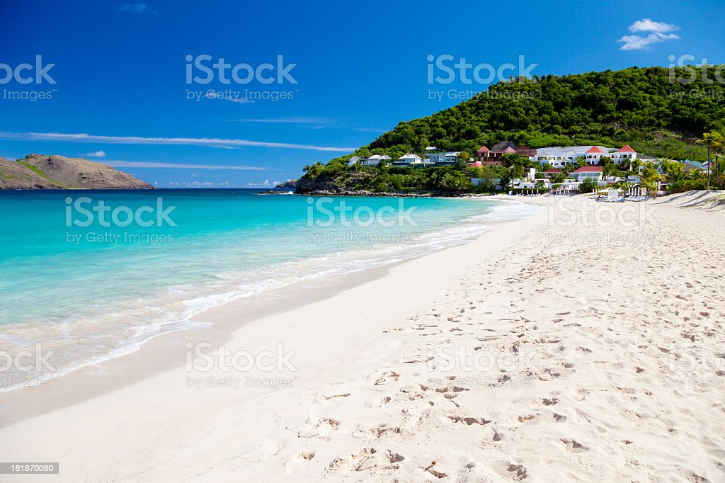 Anse des Flamands in St. Barths, French West Indies stock photo