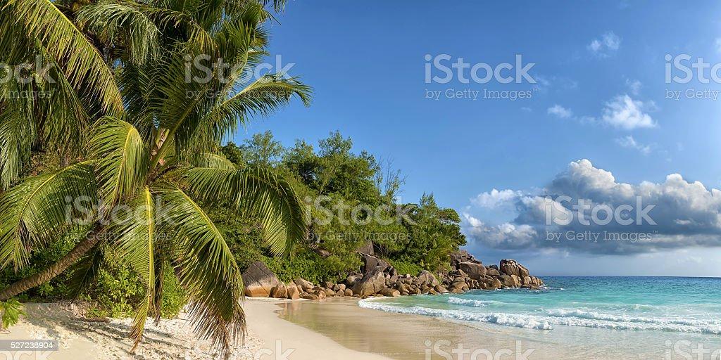 anse georgette in praslin island seychelles royalty-free stock photo
