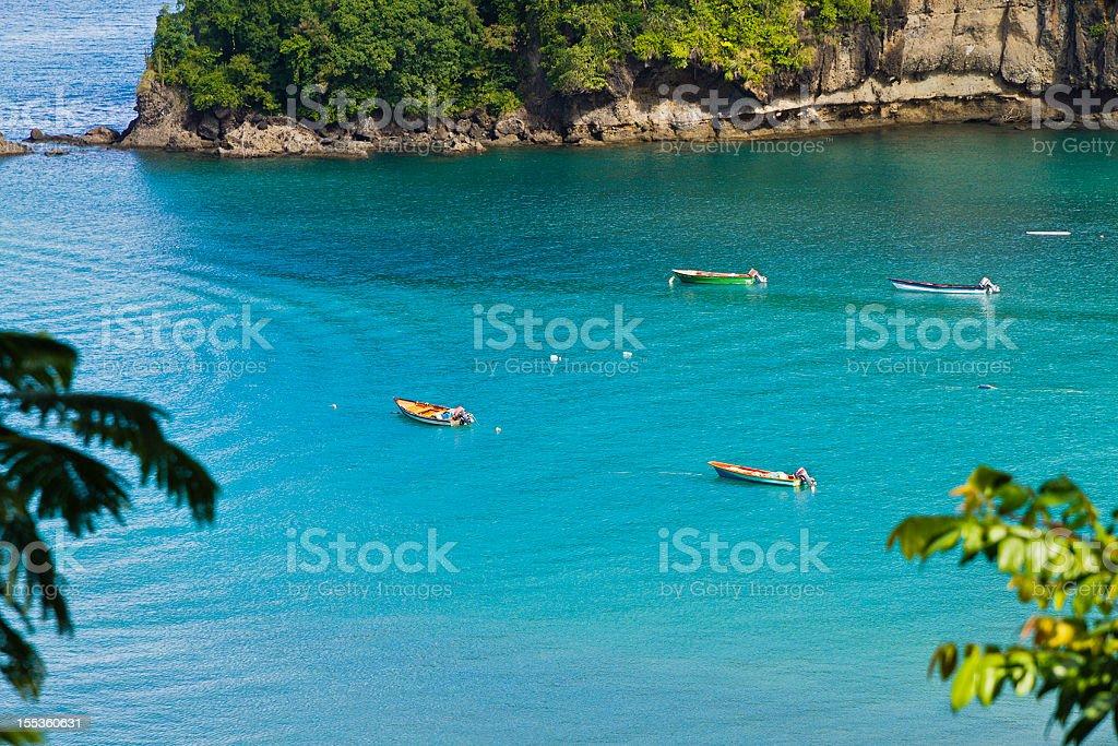 Anse la Raye, Saint Lucia stock photo