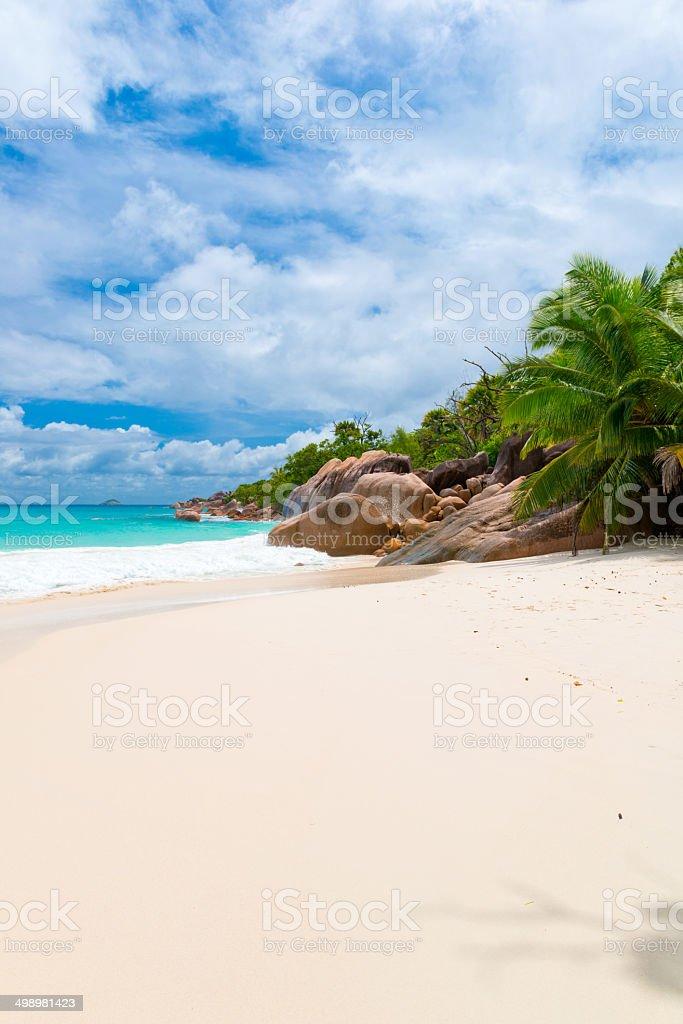 Anse Lazio, Praslin island, the Seychelles royalty-free stock photo