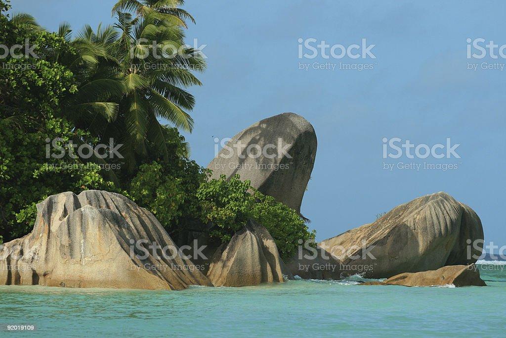 anse source d'argent aux Seychelles stock photo